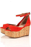Comfy with a cool pop of color. Topshop Cork Wedge ($130)