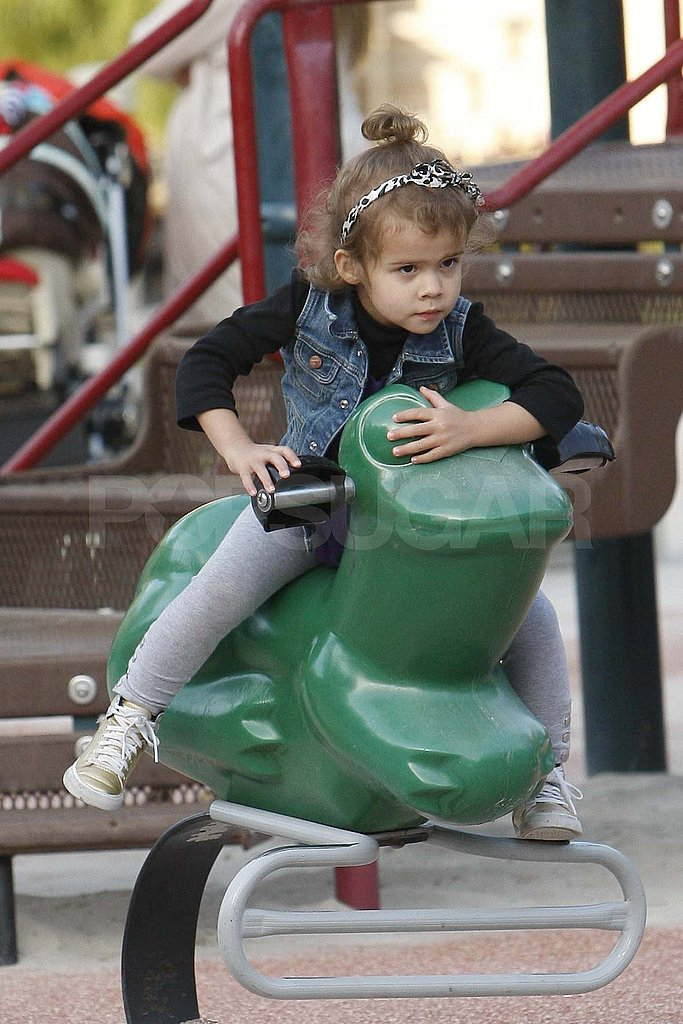 Jessica Alba and Honor Swing the Day Away in LA