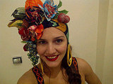 Margherita Missoni did her best Carmen Miranda impersonation.