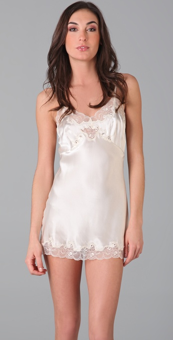 Perfectly romantic wedding lingerie.  Only Hearts Silk Charmeuse Mini Slip ($132)