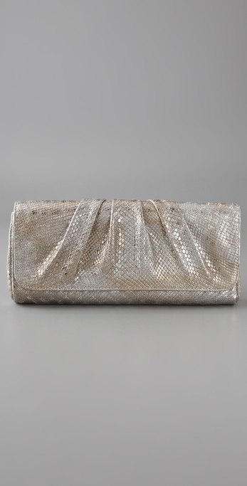 A clutch you'll use all wedding season long.  Lauren Merkin Caroline Snake Clutch ($250)