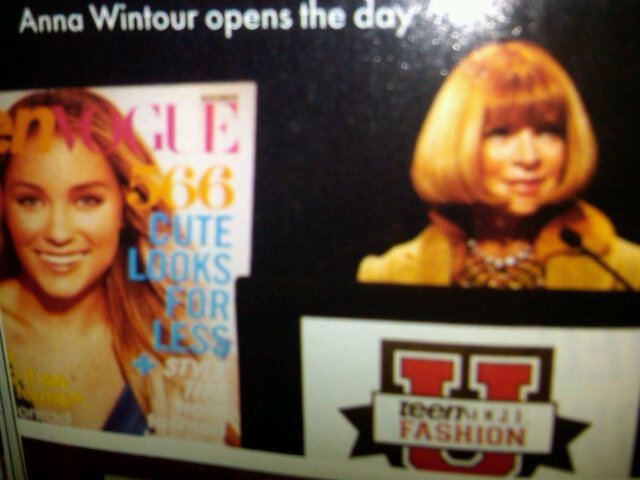 While LC came as close as she ever might to posing with Anna Wintour.