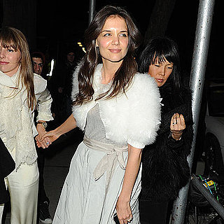 Pictures of Katie Holmes With Jeanne Yang in NYC