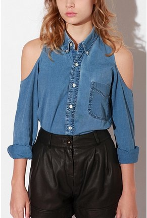 A denim button-down is a closet staple, but the shoulder cutouts on this one make it a standout version. Urban Renewal Cold Shoulder Denim Shirt ($48)