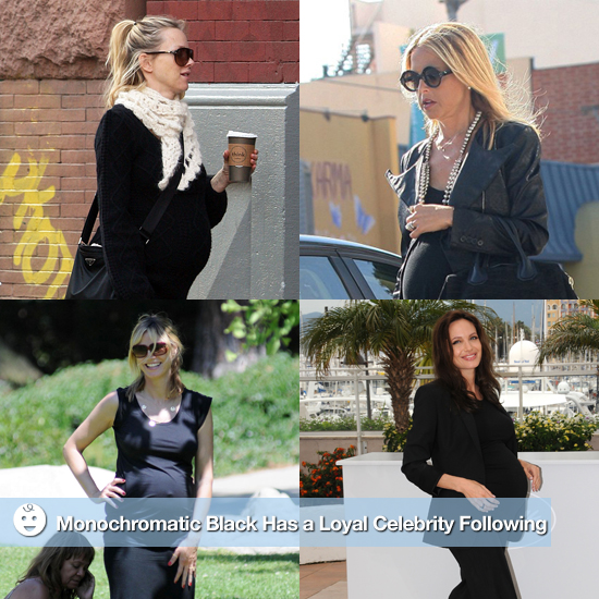 How to Dress the Pregnant Body: Monochromatic Black Has a Loyal Celebrity Following