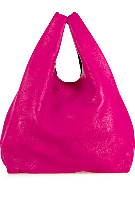 We love the bright fuchsia hue on this Jil Sander Market Bag ($895).
