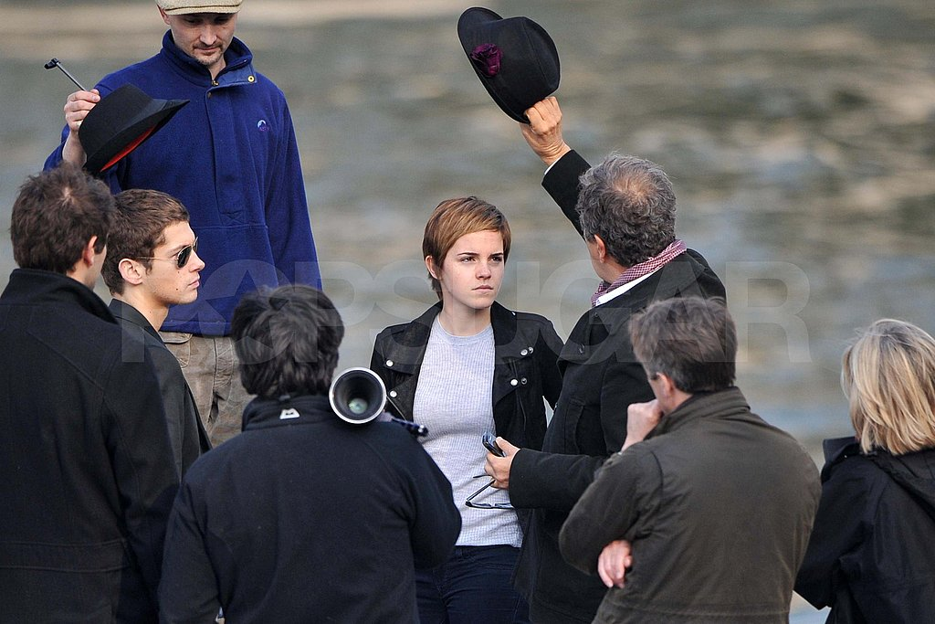 Emma Watson Dresses Down For Another Day of Working With Mario Testino