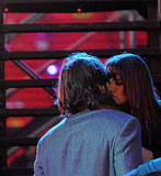Ashton Kutcher and Lea Michele Lock Lips For New Year's Eve