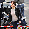 Pictures of Emma Watson Shooting Lancôme Commercial in Paris With Mario Testino