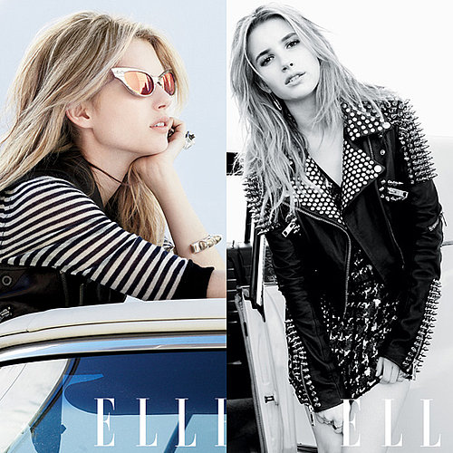 Emma Roberts Poses For Elle Magazine Wearing Chanel, Burberry and Dior