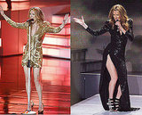 Celine Dion Wears Balmain and Armani Prive at Caesars Palace Performance