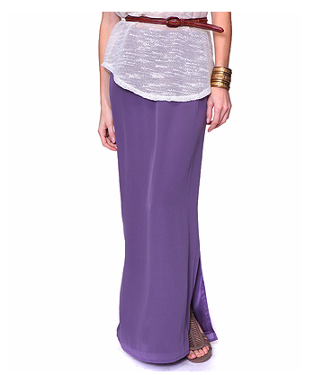 This Forever 21 Silk Maxi Skirt ($28) is a budget-friendly option to add color to your wardrobe.