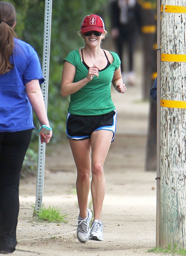 Reese Witherspoon went on a St. Patrick's Day run around LA in March 2011.