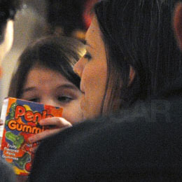 Suri Cruise Checks Out Penis Gummies in NYC