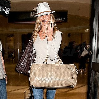 Pictures of Cameron Diaz Arriving at LAX to Promote Bad Teacher