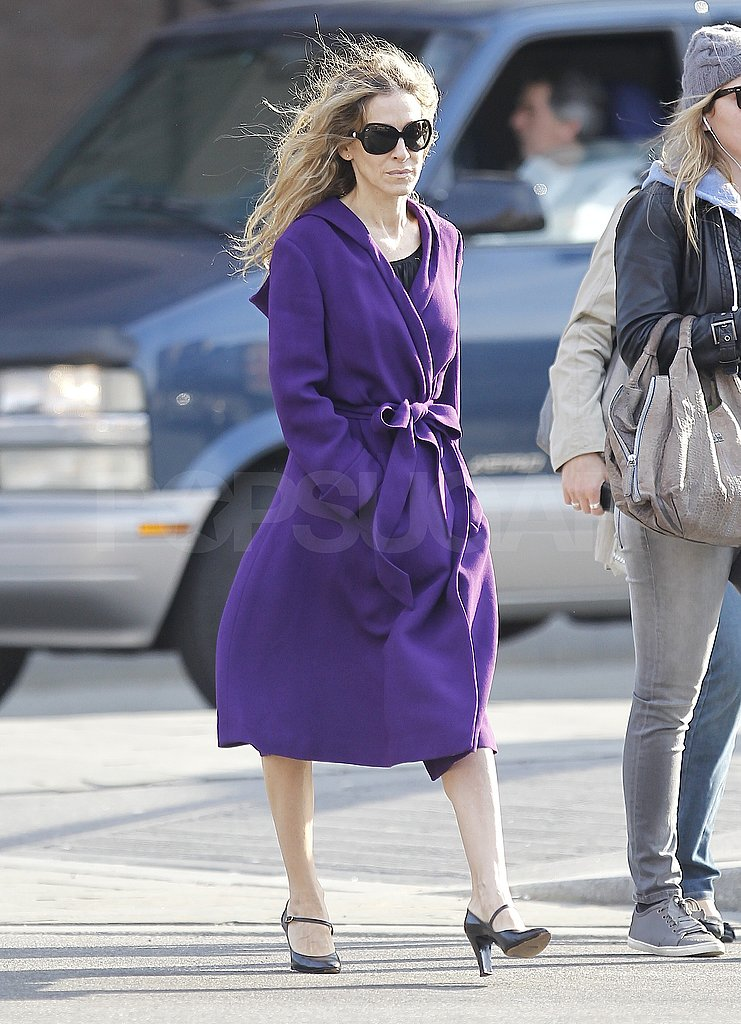 Sarah Jessica Parker Jumps Into Spring and Bright Attire