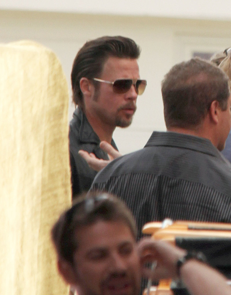 Brad Pitt Works Away His New Orleans Afternoon