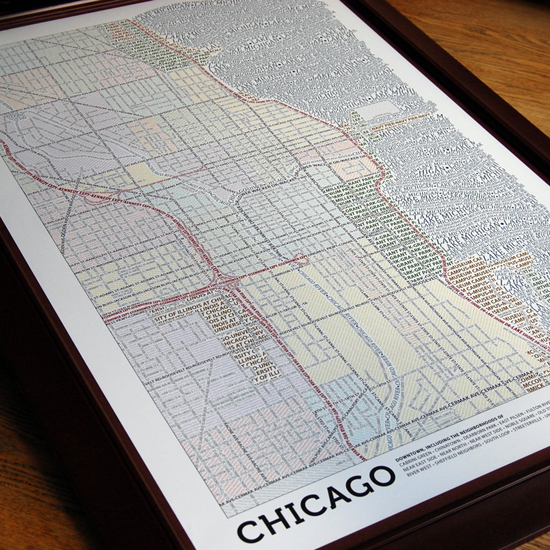 Axis Maps Typography Prints ($30)