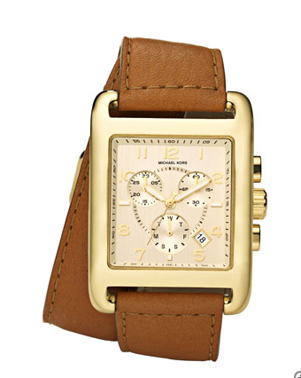 The leather band beautifully complements the gold face — a classic timepiece we'll wear for seasons. Michael Kors Double Wrap Watch ($225)