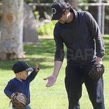 Patrick Dempsey Plays Baseball With His Two Little Sluggers — Too Cute!