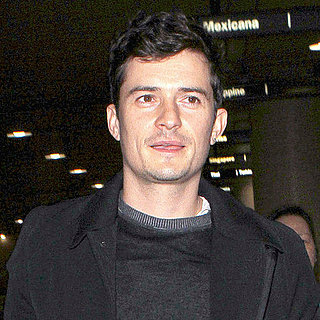 Pictures of Orlando Bloom Landing at LAX