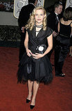 Reese Witherspoon in Black Midi Dress at 2001 Golden Globe Awards