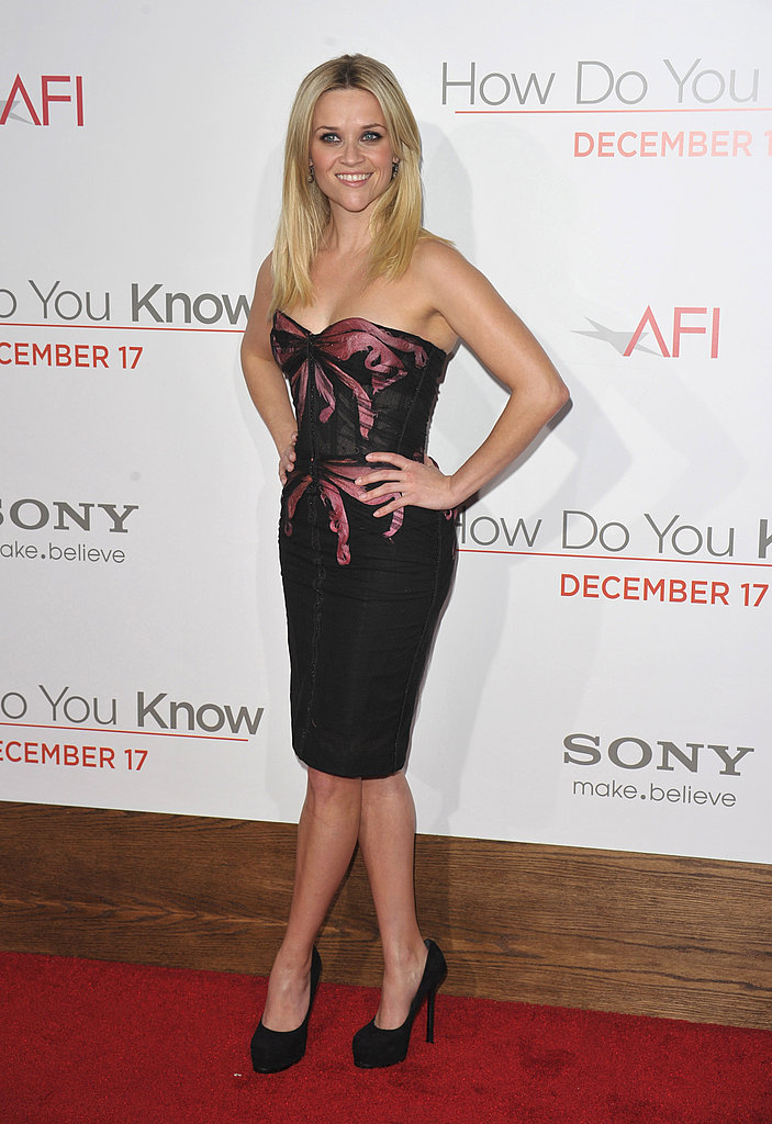 For the LA premiere of How Do You Know in December 2010, Reese looked ultrasexy in a strapless Zac Posen dress.