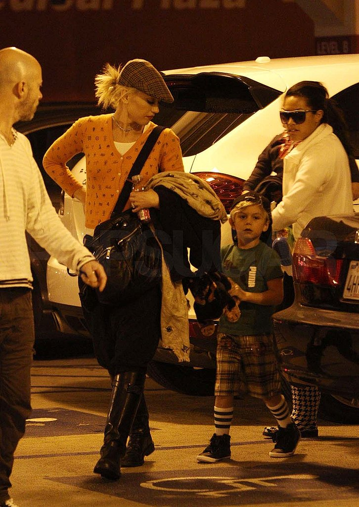 Gwen Stefani Has a Bright Afternoon With Her Boys Zuma and Kingston