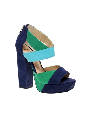 If you love colorblocking, you should get this Asos Platform Sandal ($170).