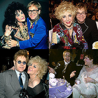 Pictures of Elizabeth Taylor and Elton John