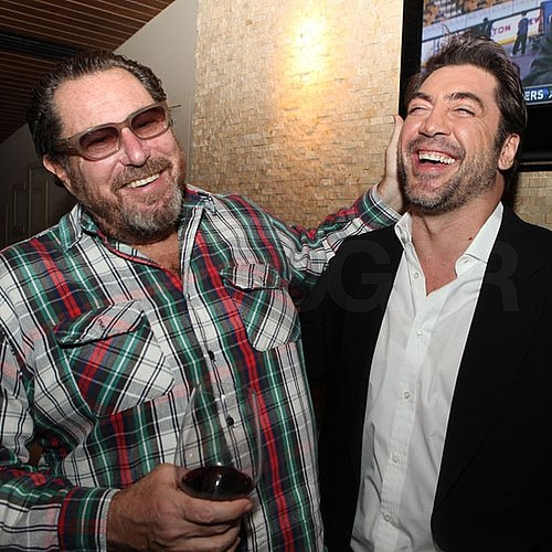 Pictures of Javier Bardem Hosting a Party For Julian Schnabel's Miral