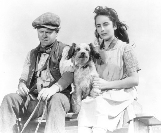 Elizabeth Taylor and Mickey Rooney in National Velvet, 1944.