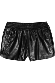 Leather shorties are a cool twist to the per usual black skirt. Maje Leather Shorts ($275)
