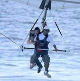 Jesse Eisenberg Goes Hang Gliding in Rio!