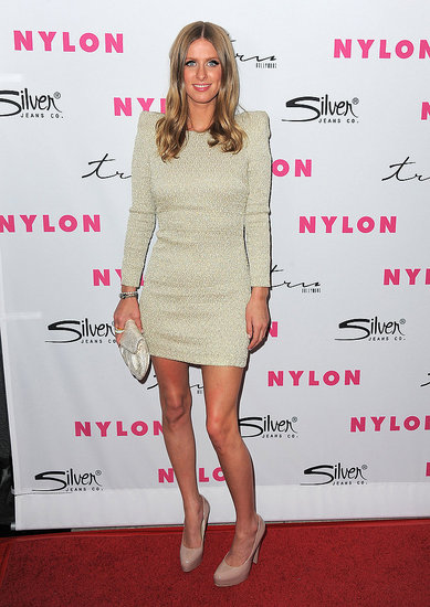 Nicky Hilton went super short for Nylon's anniversary party.