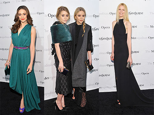 Pictures of celebrities at the The Met Opera Premiere including Mary Kate and Ashley Olsen, Claire Danes and Olivia Munn,