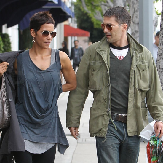 Halle Stays Busy Shopping With Nahla and Dining Alongside Olivier