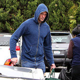 Alexander Skarsgard Hangs Around in His Hood