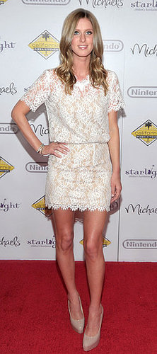 Nicky Hilton Wears Lace Charles Henry Dress to Starlight Event in LA