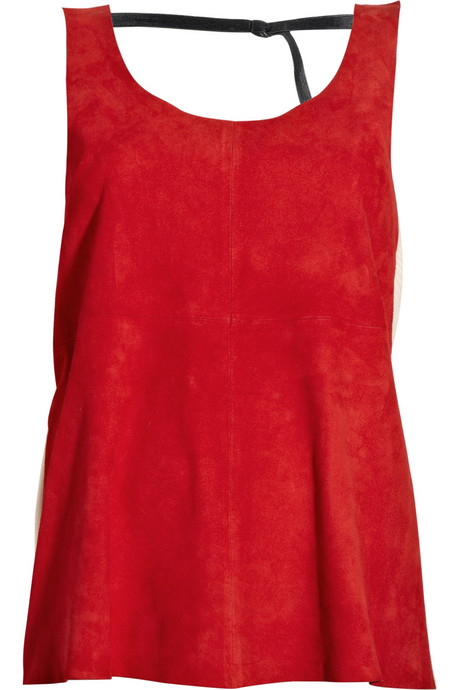 Rag & Bone Errington Suede and Mesh Tank ($325)
