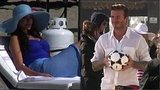 Video: Sofia Vergara in a Swimsuit Filming Pepsi Commercial With David Beckham
