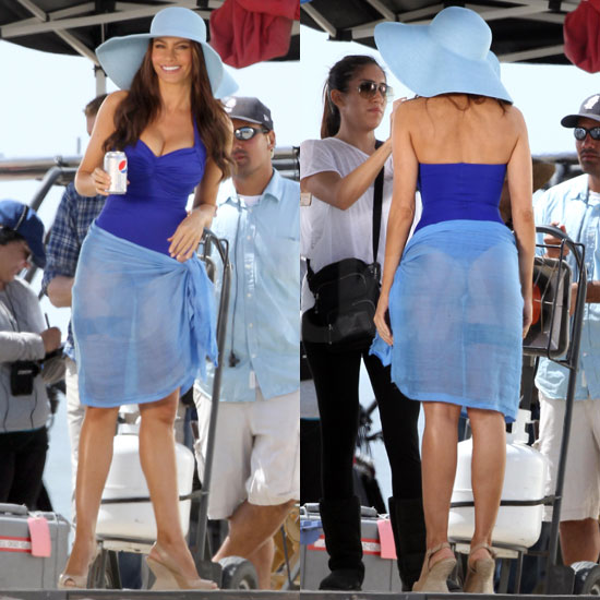 Pictures of Sofia Vergara Wearing Thong Bathing Suit For Diet Pepsi Commercial