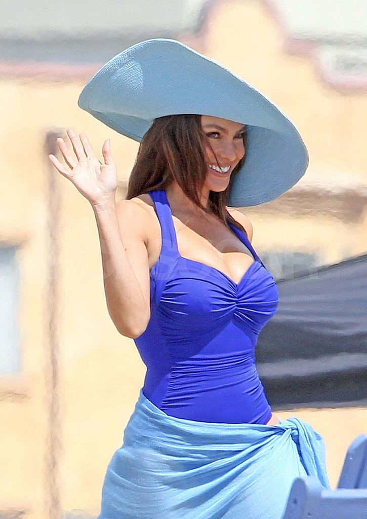 Sofia Vergara Shows Off Her Sexy Backside in a Skimpy Suit