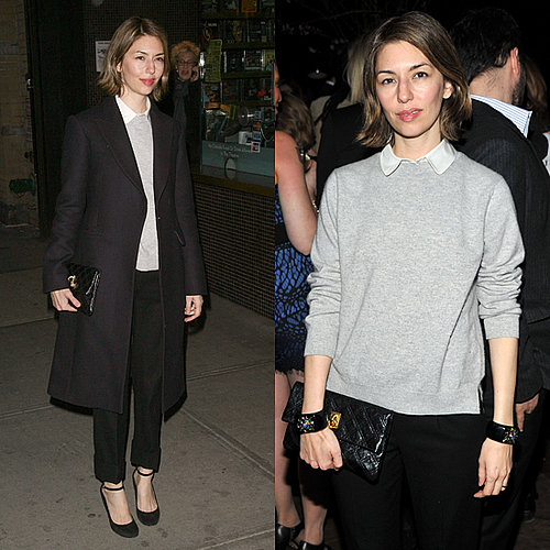 Sofia Coppola Wears a Boyishly Cute Outift to Movie Screening