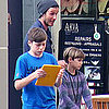 Pictures of David Beckahm Shopping with Cruz, Romeo, and Brooklyn in Beverly Hills