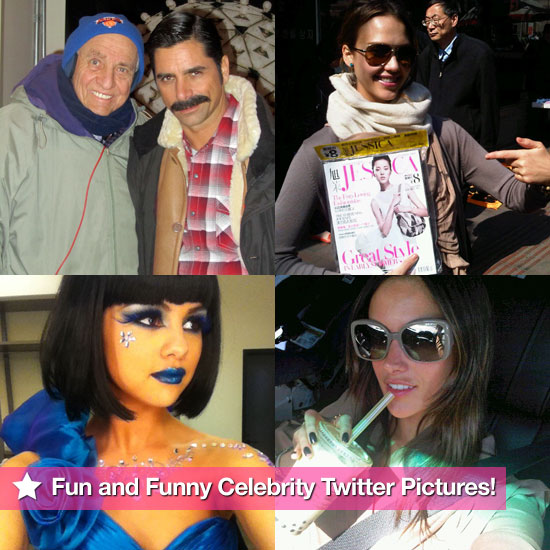 Jessica Alba, Selena Gomez, Alessandra Ambrosio, and More in This Week's Fun and Funny Celebrity Twitter Pictures!