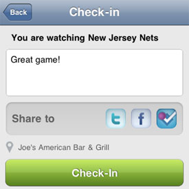 GetGlue Adds Foursquare to Check-In App