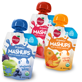 Review of Revolution Foods Mashups Fruit & Veggie Smoothies