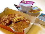 Burger King's chicken tenders and sauces.