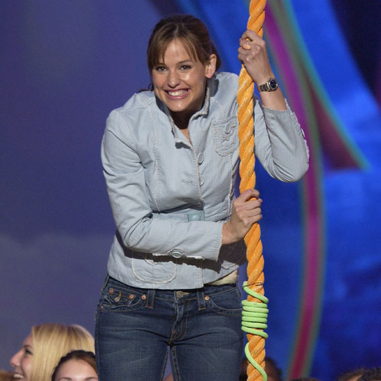 Jennifer Garner did the honor of sliming someone in 2004.